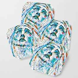 Glass stain mosaic 8 - Madonna, by Brian Vegas Coaster