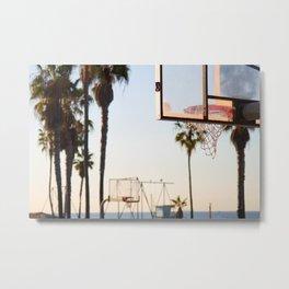 Venice Beach Basketball Series Number 2 Metal Print