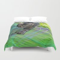 hunter Duvet Covers featuring Little Hunter by Roger Wedegis
