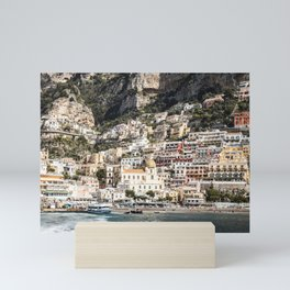 Positano Port and Beach Mini Art Print