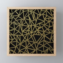 Abstract Blocks Gold Framed Mini Art Print