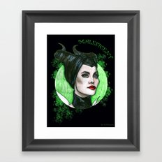 MALEFICENT Framed Art Print