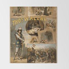 Vintage Richard III Theatre Poster Throw Blanket