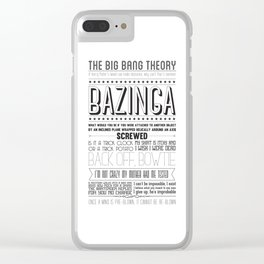 TBBT Best Quotes Clear iPhone Case