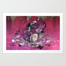 Dont Worry - Party Hard (Pink) Close Up Art Print