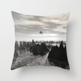 Mysterious Blue Orbs Throw Pillow