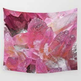 Pink Gemstone Wall Tapestry