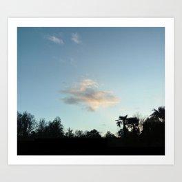 Nature, landscape and twilight 6 Art Print