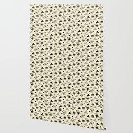 Mid Century Modern Atomic Boomerang Pattern Grey 101 Wallpaper