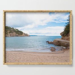 Summer landscapes around Costa Brava, impressive beachs and coastlines. Serving Tray