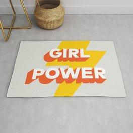 Girl Power // in Orange Grey 2 Rug