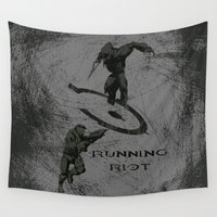 halo Wall Tapestries featuring Running Riot - Halo by Canis Picta