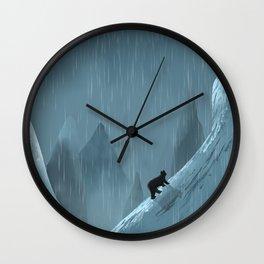 Rainy Mountain Day Wall Clock