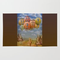 home sweet home Area & Throw Rugs featuring Sweet Home by teddynash