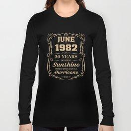 June 1982 Sunshine mixed Hurricane Long Sleeve T-shirt