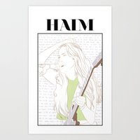 haim Art Prints featuring Alana Haim by chazstity