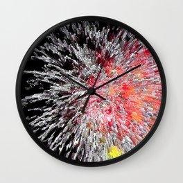 Fireworks Burst Wall Clock