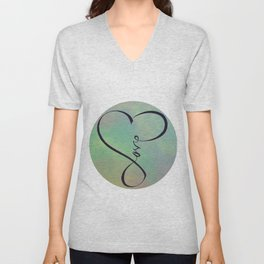 Love in my heart Unisex V-Neck