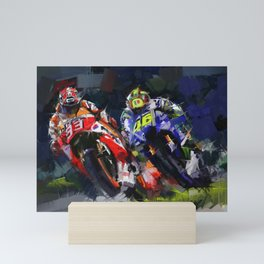 Motogp Champion Mini Art Print