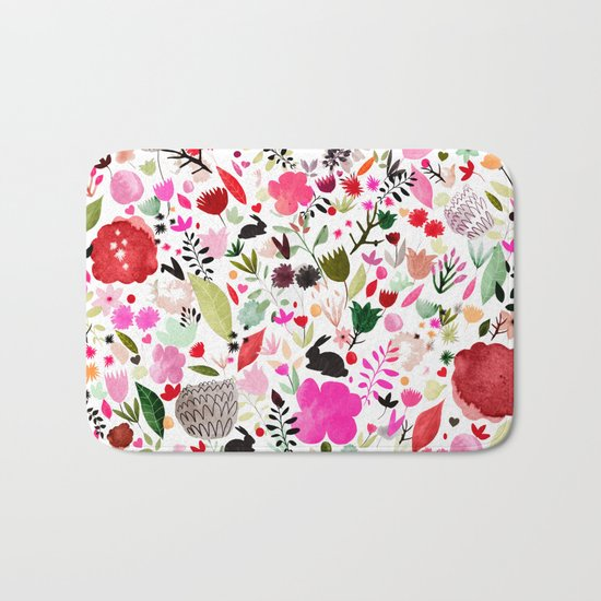 heart bloom Bath Mat