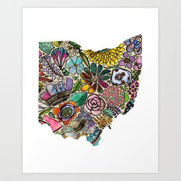 Ohio Floral Art Print