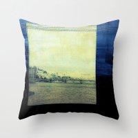 bridge Throw Pillows featuring Bridge by Neelie
