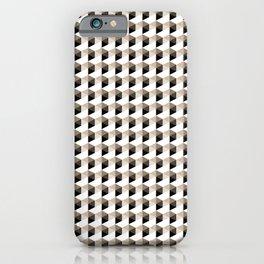 Pantone Hazelnut Hexagon, Cube Pattern Optical Illusion iPhone Case