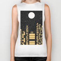 starry night Biker Tanks featuring Starry Night by Alisa Galitsyna
