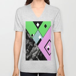 Conformity - Abstract, Textured, Geometric, Pop Art Unisex V-Neck