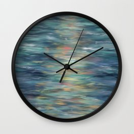 Sunset on the Water Wall Clock