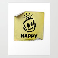 The Happy Sticker Art Print