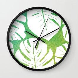 Monstera Pattern 1 Wall Clock