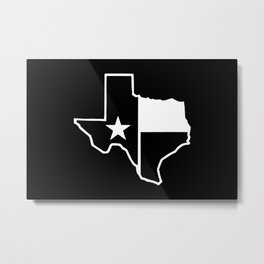 TX Texas State Flag Outline Metal Print