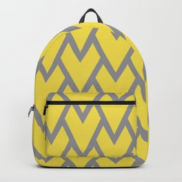 Abstract Heart Arrow Head Shape Pattern 17 V1 2021 Color Of The Year Illuminating Ultimate Gray Backpack