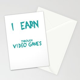 Learning School Gamer Video Game Stationery Cards