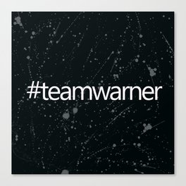 #teamwarner Canvas Print