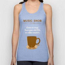 Coffee Coasters — Music Snob Tip #184 Unisex Tank Top