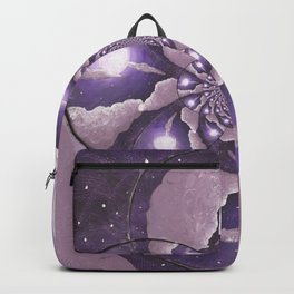 Purple Full Moon and Clouds Abstract Backpack