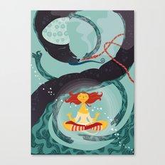 Alice in Wonder-zen (illustration 1) Canvas Print