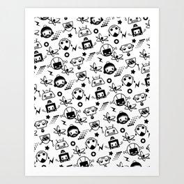 Robot Pattern Art Print