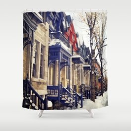 rue Laval -  Montreal Shower Curtain