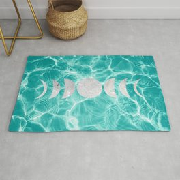 Pool Dream Moon Phases #1 #water #decor #art #society6 Rug