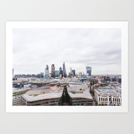 City View of the Financial District of London from St. Paul's Cathedral Art Print