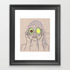 AVOCADO OF MY EYE Framed Art Print