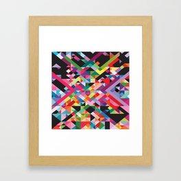Geometric Kaos Framed Art Print