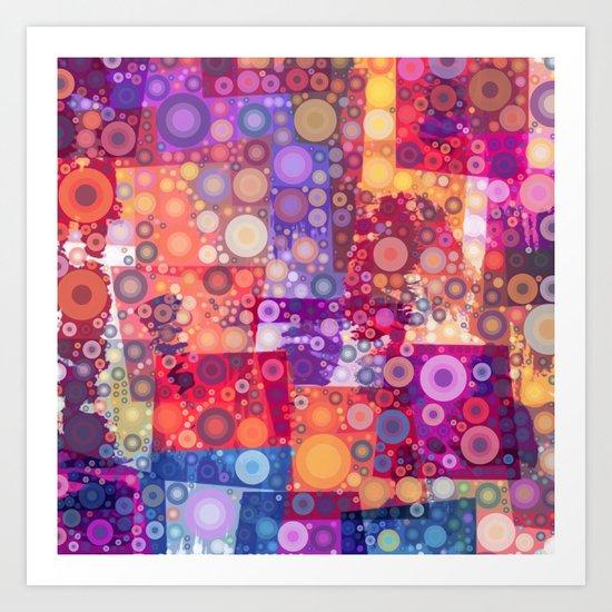 Harlequin Bubbles Art Print