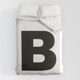 'B' Duvet Cover