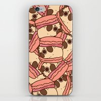 macaron iPhone & iPod Skins featuring Puglie Macaron by Puglie Pug