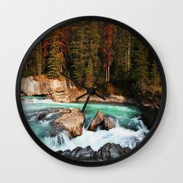 Natural Bridge Falls - Yoho, BC Wall Clock