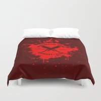 winchester Duvet Covers featuring Winchester Arms Cricket Club by Manny Peters Art & Design